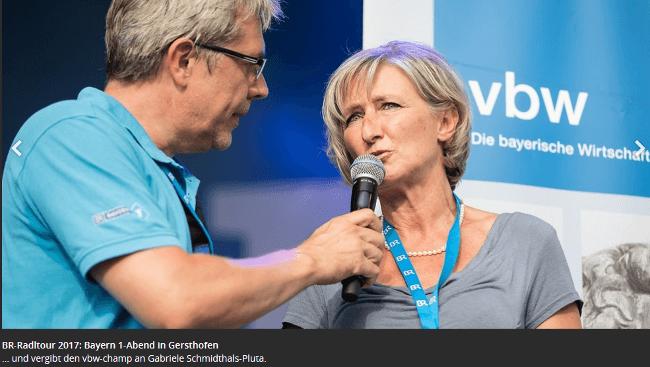 BR–Radl-Tour und Preisverleihung des vbw-champ-2017 Preis in Gersthofen